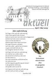 April/Mai 2009 - Katholische Kirchengemeinde St. Michael