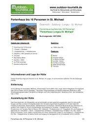 Ferienhaus bis 16 Personen in St. Michael - Outdoor-Touristik