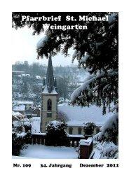 Pfarrbrief Nr. 109 - St. Michael Weingarten