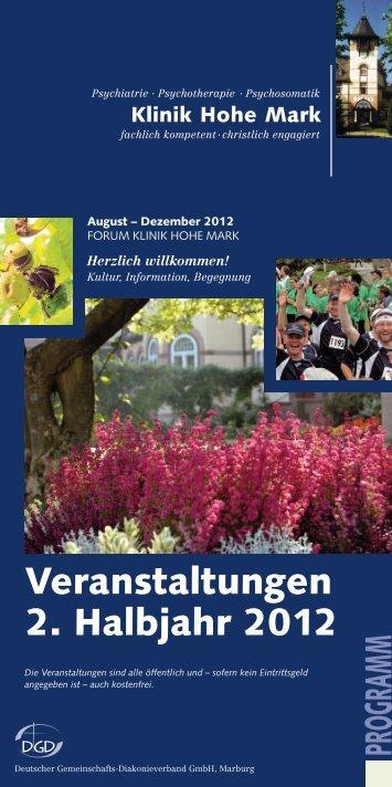 PROGRAMM Veranstaltungen 2. Halbjahr 2012 - Klinik Hohe Mark