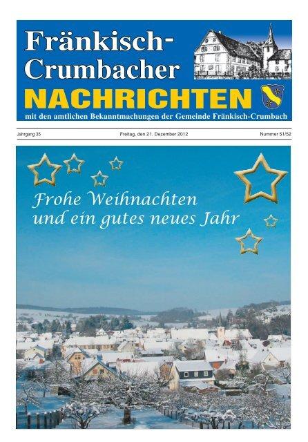 Frohe Weihnachten Und Ein Gutes Neues Jahr Fränkisch Crumbach
