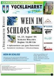 Gemeindezeitung August 2008 - Marktgemeinde Vöcklamarkt ...