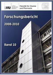 Forschungsbericht Forschungsbericht - Fakultät Chemie und ...