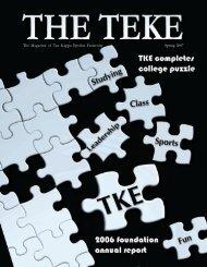 The Magazine of Tau Kappa Epsilon Fraternity Spring 2007