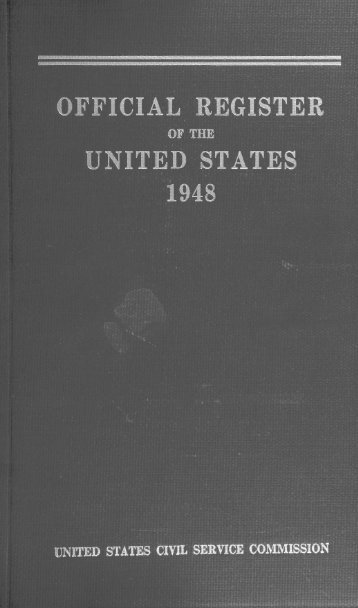 ficial register united states 1948 - U.S. Government Printing Office