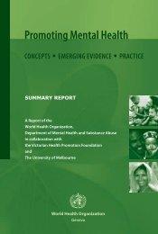 Promoting Mental Health: Concepts - World Health Organization