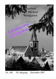 Pfarrbrief Nr. 100 - St. Michael Weingarten