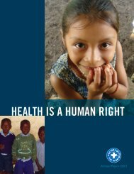 HEALTH IS A HUMAN RIGHT - HealthRight International