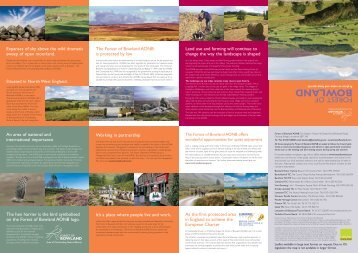 Forest of Bowland AONB General Information in PDF