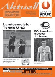 Landesmeister Tennis U-12 - Sportunion Ohlsdorf