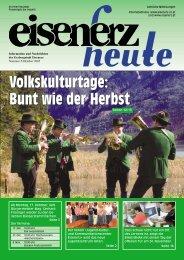 Volkskulturtage: Bunt wie der Herbst Volkskulturtage ... - Eisenerz