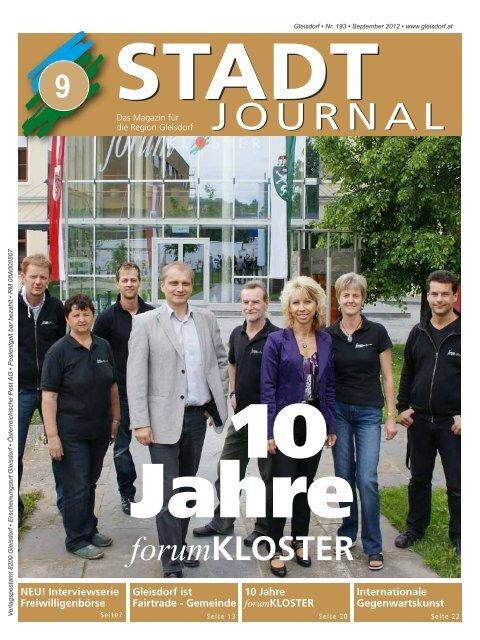 journal - Stadtgemeinde Gleisdorf