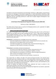 1 Public Call for Project Ideas in the frame of the Operational ...