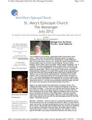 July 2012 Messenger Newsletter.pdf - St. Mary's Episcopal Church ...