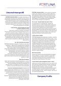 Company Profile - Fortuna Industries GmbH - Page 3