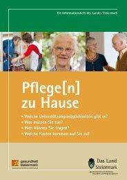 Pflege[n] zu Hause - Gesundheitsserver - Land Steiermark