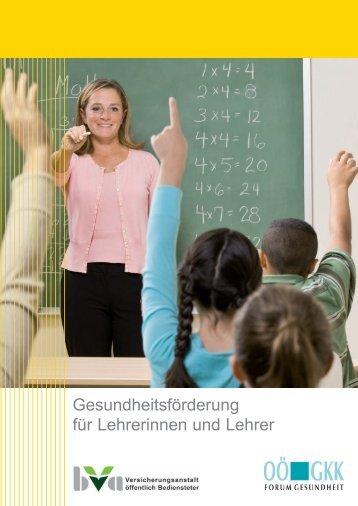 Handbuch Gesundheitsförderung für Lehrerinnen und Lehrer - BVA