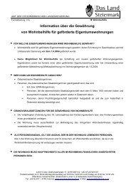 Information über die Gewährung von Wohnbeihilfe für geförderte ...