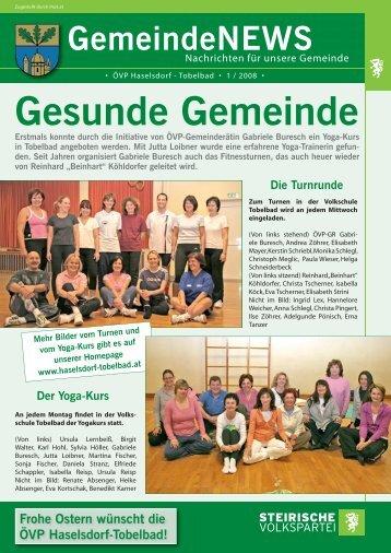 Gesunde Gemeinde - Haselsdorf - Tobelbad, die Homepage der VP ...
