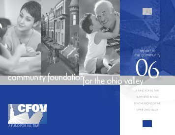 report to the community - Community Foundation for the Ohio Valley