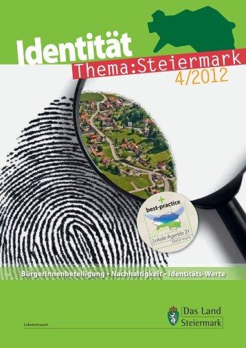 """Aktuelle Ausgabe """"Identität"""" als pdf - Landentwicklung - Steiermark"""