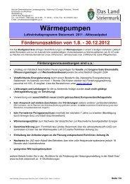 Infoblatt Heizungsumstellung Wärmepumpen für das Stadtgebiet Graz