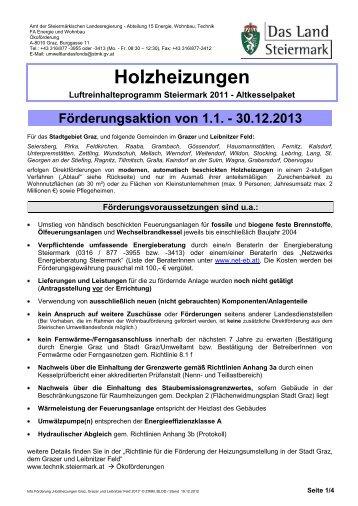 Stadt Graz, Grazer und Leibnitzer - Technik Steiermark