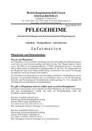 PFLEGEHEIME - Gemeinde Haus