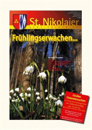 Gemeindekurier Oster.. - Marktgemeinde St. Nikolai im Sausal
