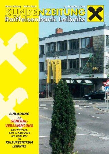 GENERAL- VERSAMMLUNG - Raiffeisenbank Leibnitz