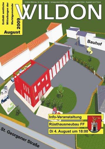 Hier können Sie die Gemeindezeitung von August 2009 - Wildon