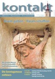 Pfarrblatt kontakt 207 (Mai - Juli 2011) - Pfarre Graz-St. Veit