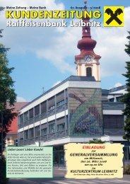 Ausgabe 67 (pdf) - Raiffeisenbank Leibnitz