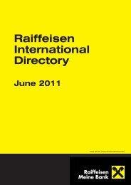 Raiffeisen International Directory June 2011