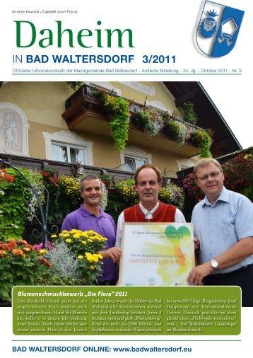 Ausgabe Oktober 2011 - Gemeinde Bad Waltersdorf