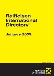 Raiffeisen Bank International subsidiaries