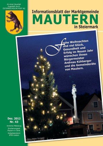 Informationsblatt der Marktgemeinde in Steiermark - istsuper.com