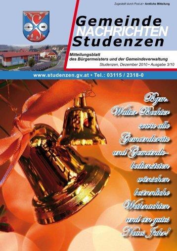 Gemeinde Nachrichten 03/2010_PDF - Gemeinde Studenzen