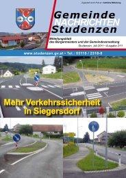 Gemeinde Nachrichten 02/2011_PDF - Gemeinde Studenzen
