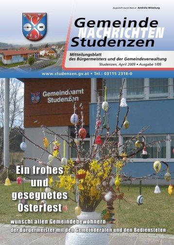 NACHRICHTEN - Gemeinde Studenzen