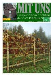 MIT UNS Oktober 2010 - in der Gemeinde Pirching/Traubenberg