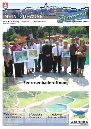 ZUHAUSE MEIN Seerosenbaderöffnung - Gemeinde Kirchberg an ...