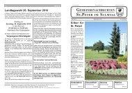 September 2010 - St. Peter im Sulmtal