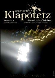 Klapotetz - 30. Jahrgang - Dezember 2011 - Nr. 4 - Marktgemeinde ...