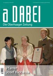 Pfarrer Josef Klobassa - Gemeinde Oberhaag