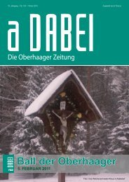 Ball der Oberhaager - Gemeinde Oberhaag