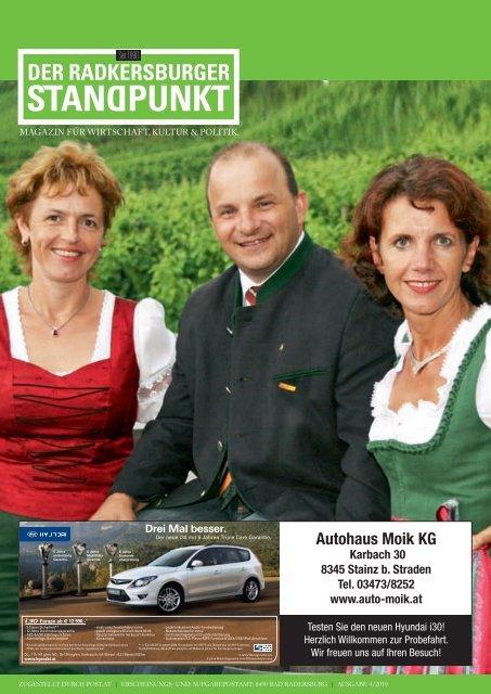 Radkersburger Standpunkt - Ausgabe 04/2010 - Steirische Volkspartei