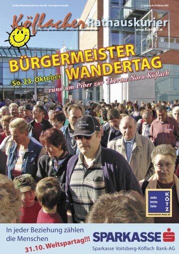 BÜRGERMEISTER WANDERTAG - Köflach