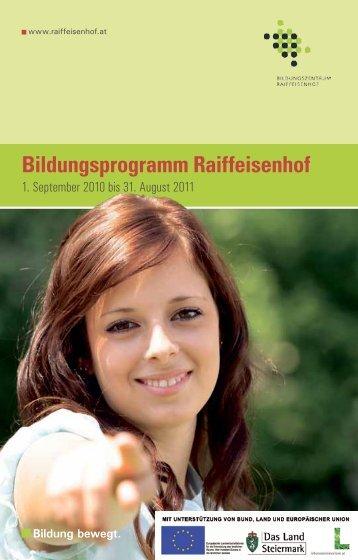 Bildungsprogramm Raiffeisenhof - Bildungszentrum Raiffeisenhof