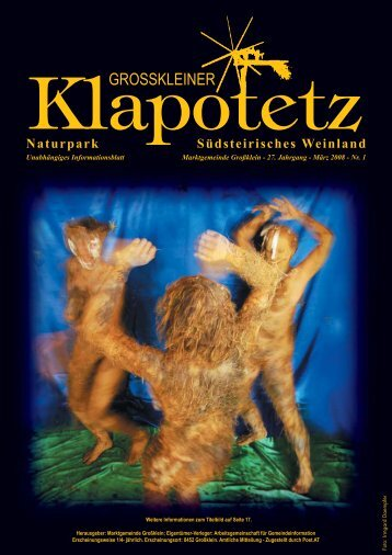 Klapotetz - 27. Jahrgang - März 2008 - Nr. 1 (pdf - Marktgemeinde ...